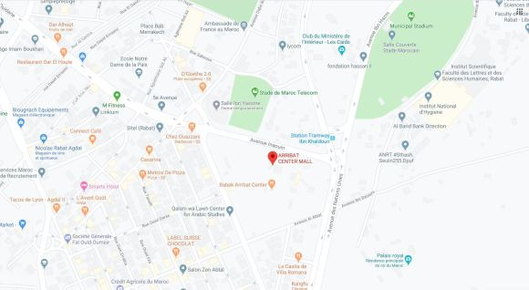 Carte localisation Arribat Center