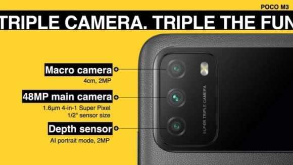 Camera du Poco M3 en détails