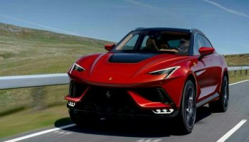 Ferrari Purosangue en photo vue de face