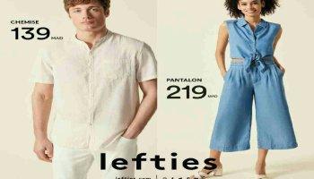 models et prix chez lefties