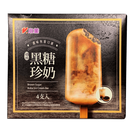 Brown Sugar Boba Ice Cream Bar 小美黑糖珍珠冰棒 4 packs