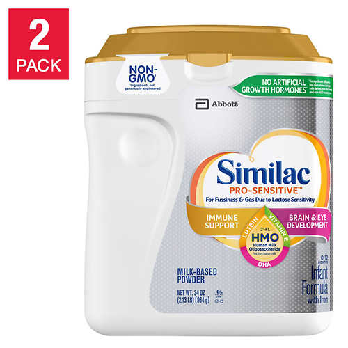 Similac Pro-Sensitive HMO Infant Formula 34 oz, 2-count