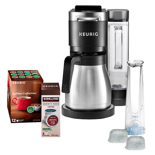 Keurig K-Duo Plus C Coffee Maker, with Single Serve K-Cup Pod and 12 Cup Thermal Carafe Brewer