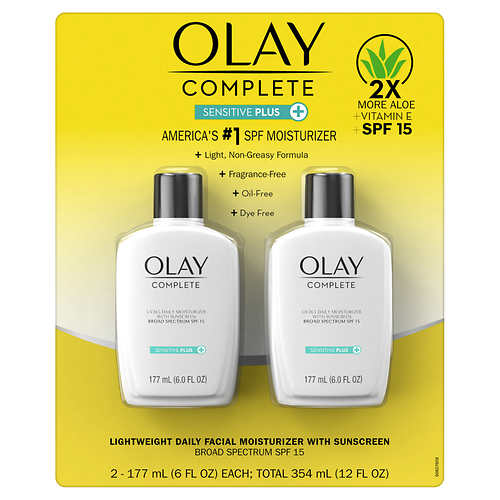Olay Complete Sensitive 6 fl oz, SPF 15, 2-pack