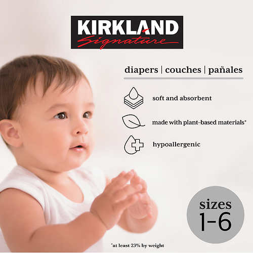 Kirkland Signature Diapers Sizes 1-6