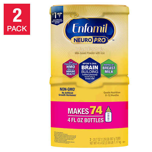 Enfamil NeuroPro Infant Formula 20.7 oz., 2-pack