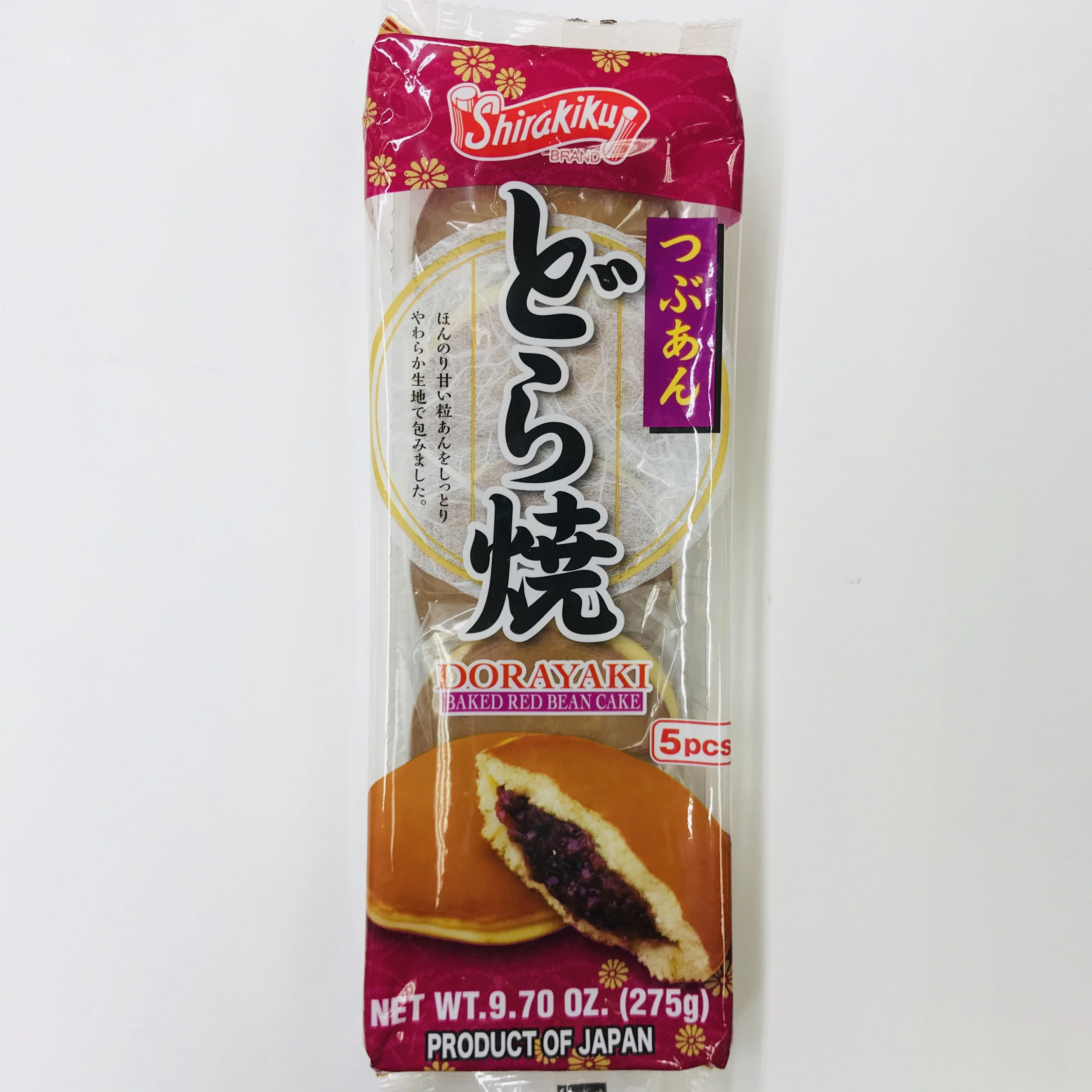 Shirakiku Dorayaki Red Bean 红豆沙烧饼 5pcs/9.7oz