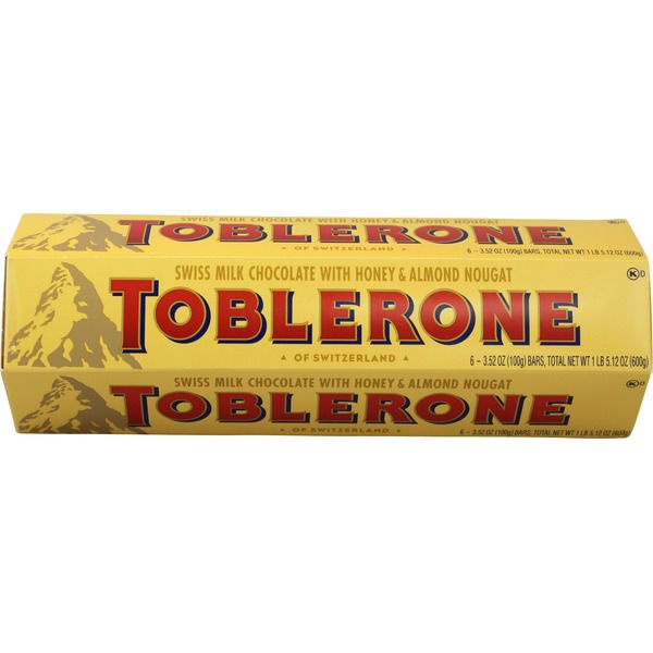 Toblerone Swiss Milk Chocolate, 6 x..