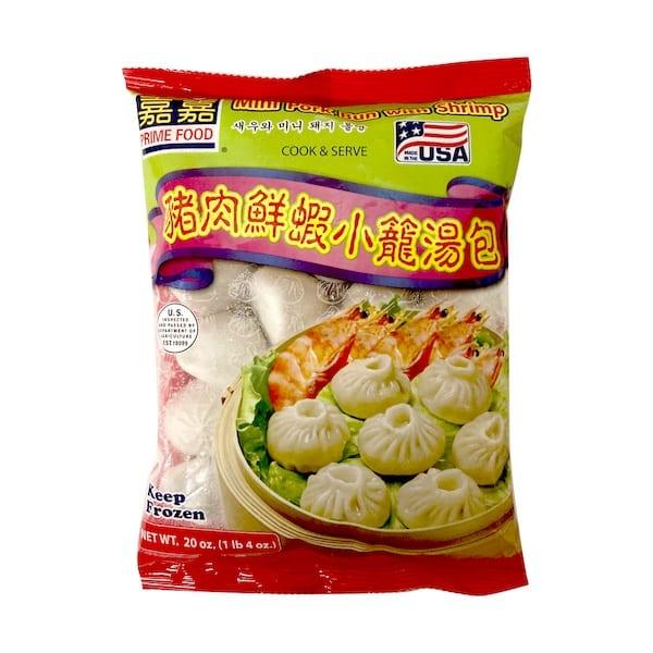 Mini Pork Bun with Shrimp 嘉嘉猪肉鲜虾小笼汤包..