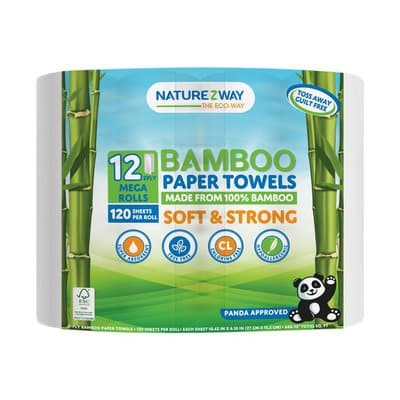 Naturezway Bamboo Paper Towels 2-Ply 120..