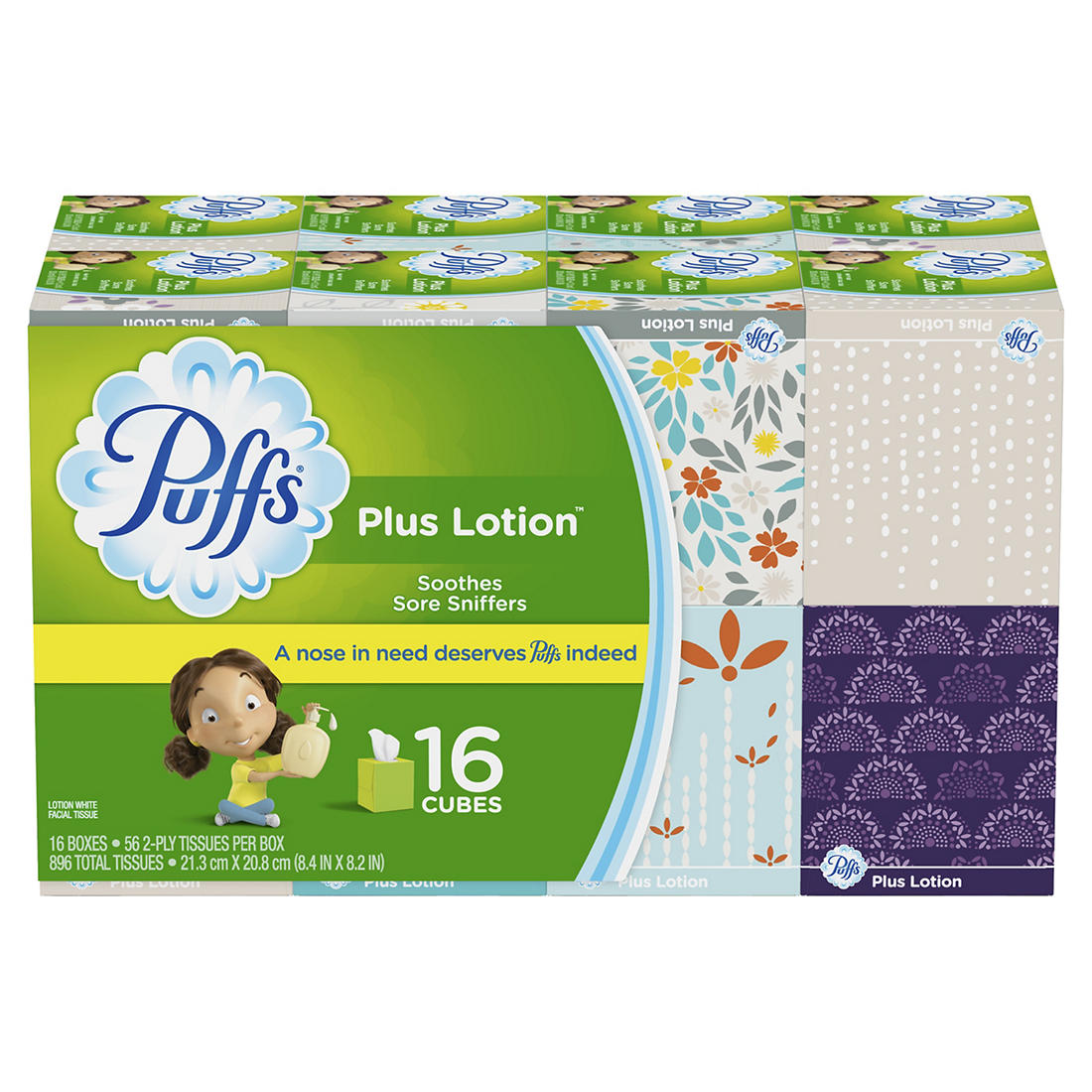 Puffs Plus Lotion Two-Ply Facial Tissues,..