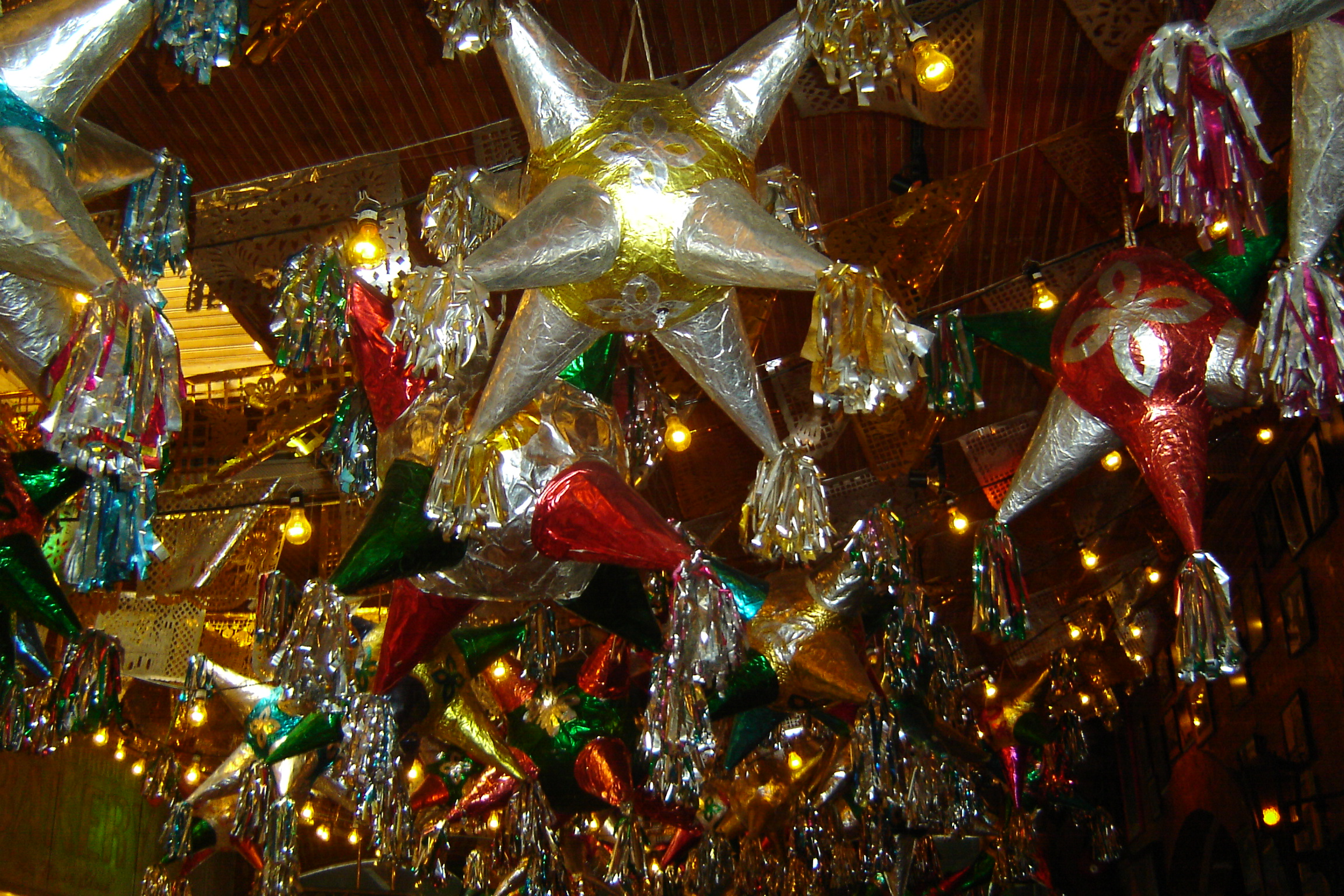 Stars on the ceiling of Mi Tierra Cafe in San Antonio