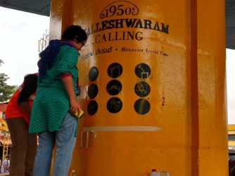 Infographics up on the Flyover Pillars