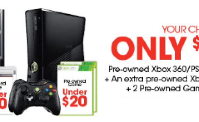 Get Your Choice Of A Pre Owned Xbox 360 Ps3 An Extra Pre