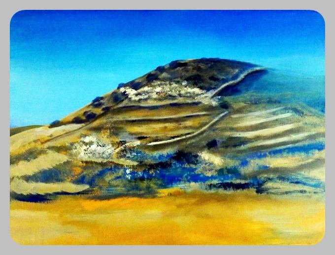 Berg, 2012, 60 x 80 cm, Acryl auf Leinwand
