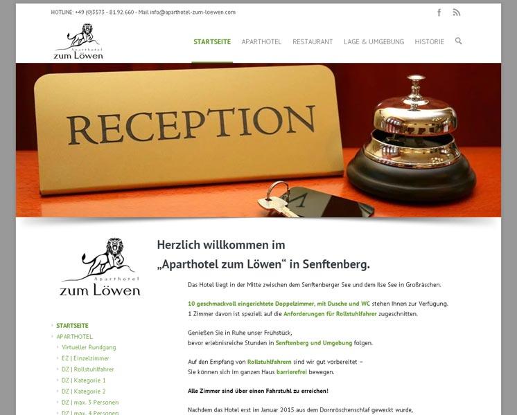 APARTHOTEL ZUM LÖWEN> Layout, Programmierung Online-Booking-Systemwww.aparthotel-zum-loewen.com