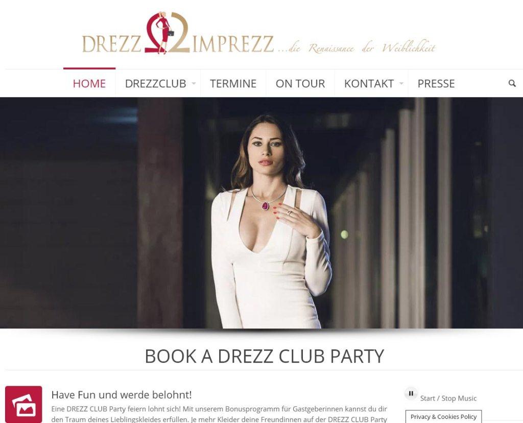 Drezz Club by Cindy MorawetzProgrammierung, Grafik, Layout: Websitewww.drezzclub.com