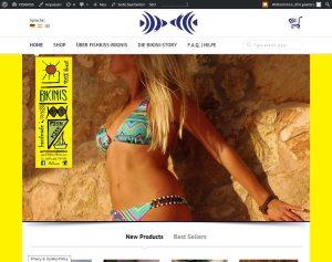 FISHKISS EUROPA.Programmierung, Grafik, Layout: Website & Shopsystemwww.fishkiss-bikinis.com