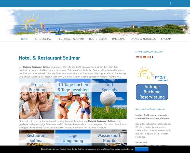 HOTEL RESTAURANT SOLIMARErstellung / Gestaltung > Websitewww.hotelsolimar.eu