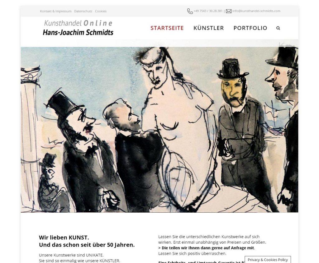 Kunsthandel SchmidtsProgrammierung, Grafik, Layout: Websitewww.kunsthandel-schmidts.com
