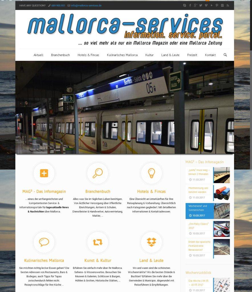 mallorca-services.de Entwicklung der CI, Grafik & Layout für Online www.mallorca-services.de