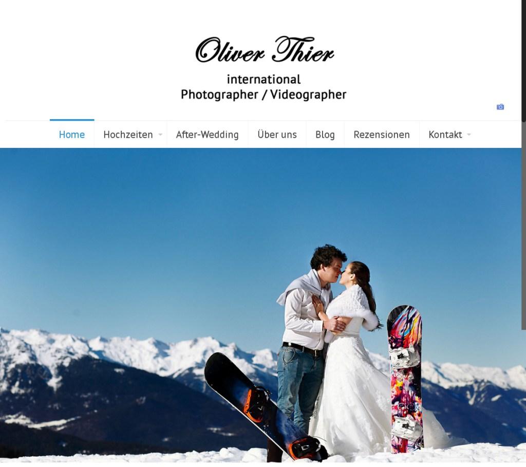 Oliver Thier Photography Programmierung, Grafik, Layout: Website www.fotograf-zugspitze.de