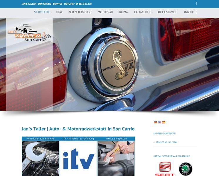 Taller MallorcaGestaltung / Layout > Websitewww.taller-mallorca.com