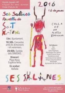 Programa y cartel Sant Antoni (ses Salines)