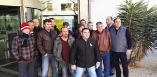trabajadores afectados de cobra frente a Inspección de Trabajo