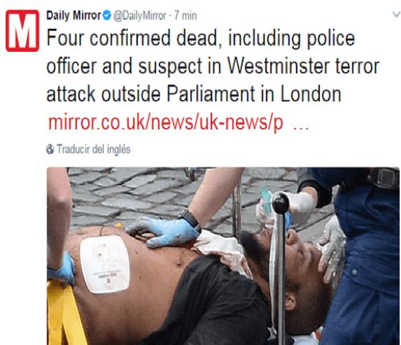 220317 terrorista londres tweet daily mirror