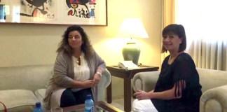 Rosa Estarás (PP), Íñigo Méndez de Vigo y Maite Pagazaurtundúa (UPyD)