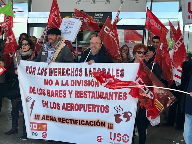 aeropuerto palma son sant joan huelga paro trabajadores ccoo ugt