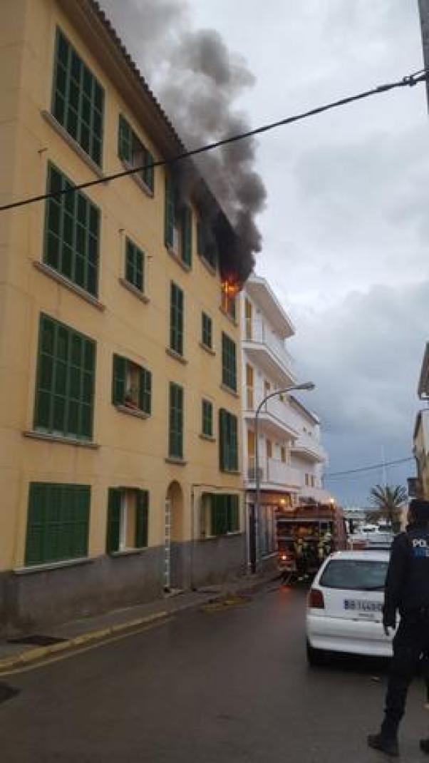 Incendio en Cala Rajada 2