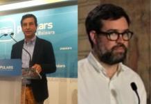 El presidente del PP, Biel Company, y el alcalde de Palma, Antoni Noguera se enfrentan por los vertidos fecales