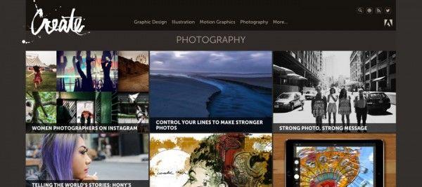 Sección Fotografía en Create