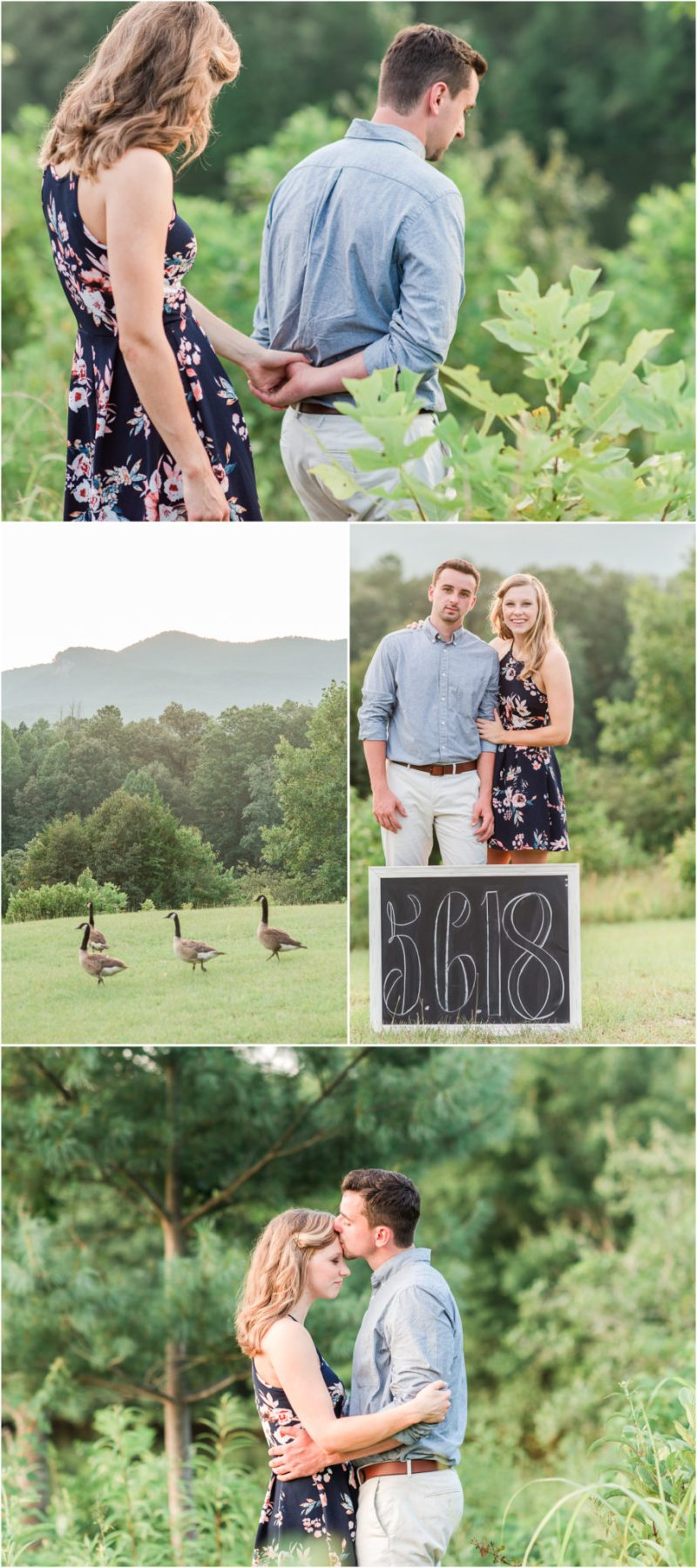 Sunset Mountain Engagement at Table Rock State Park