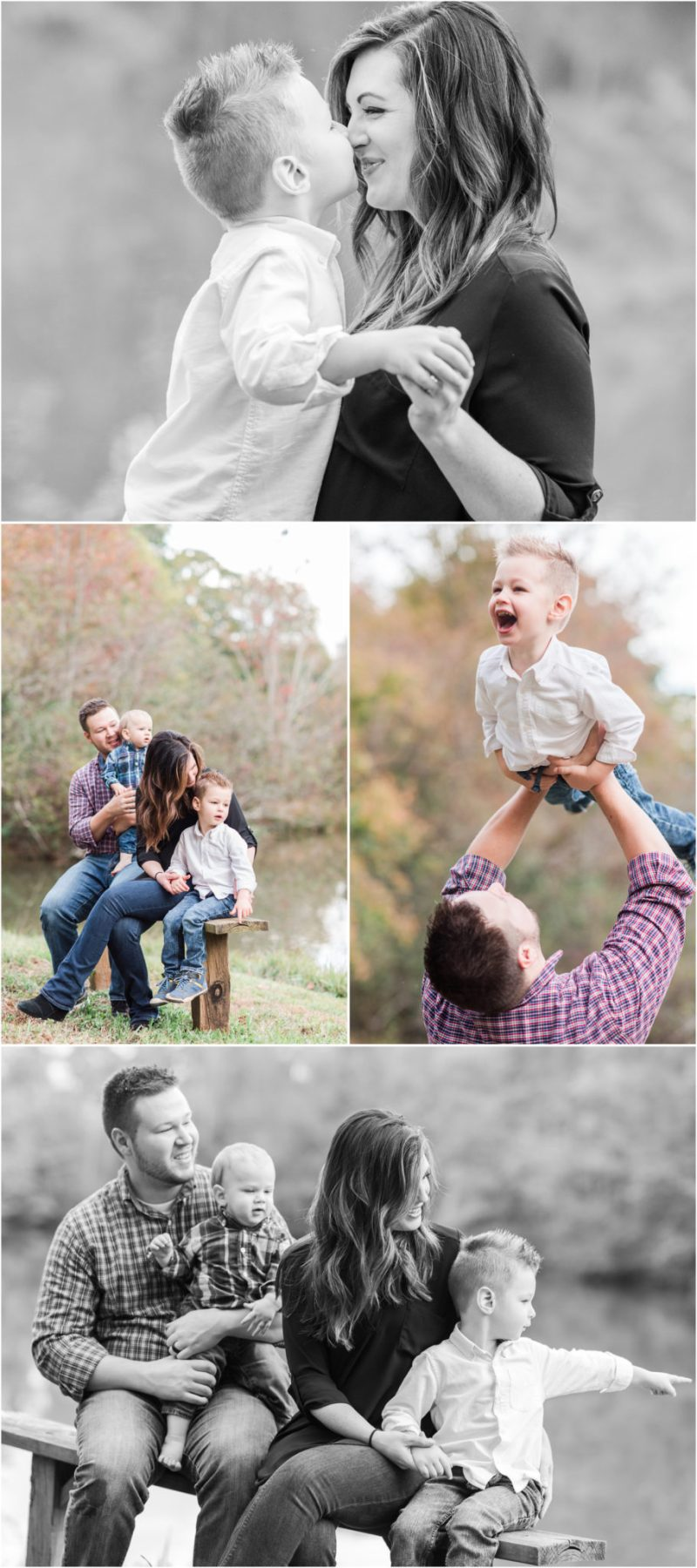Family of Four Family Session in Travelers Rest South Carolina