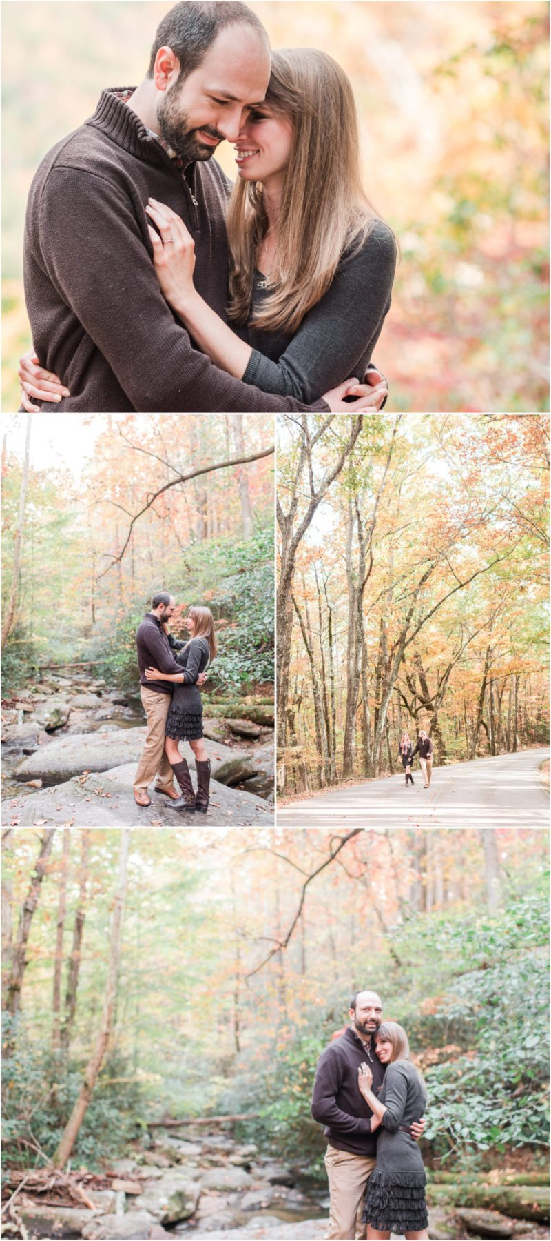 Fall Table Rock State Park Engagement Session in Pickens, South Carolina