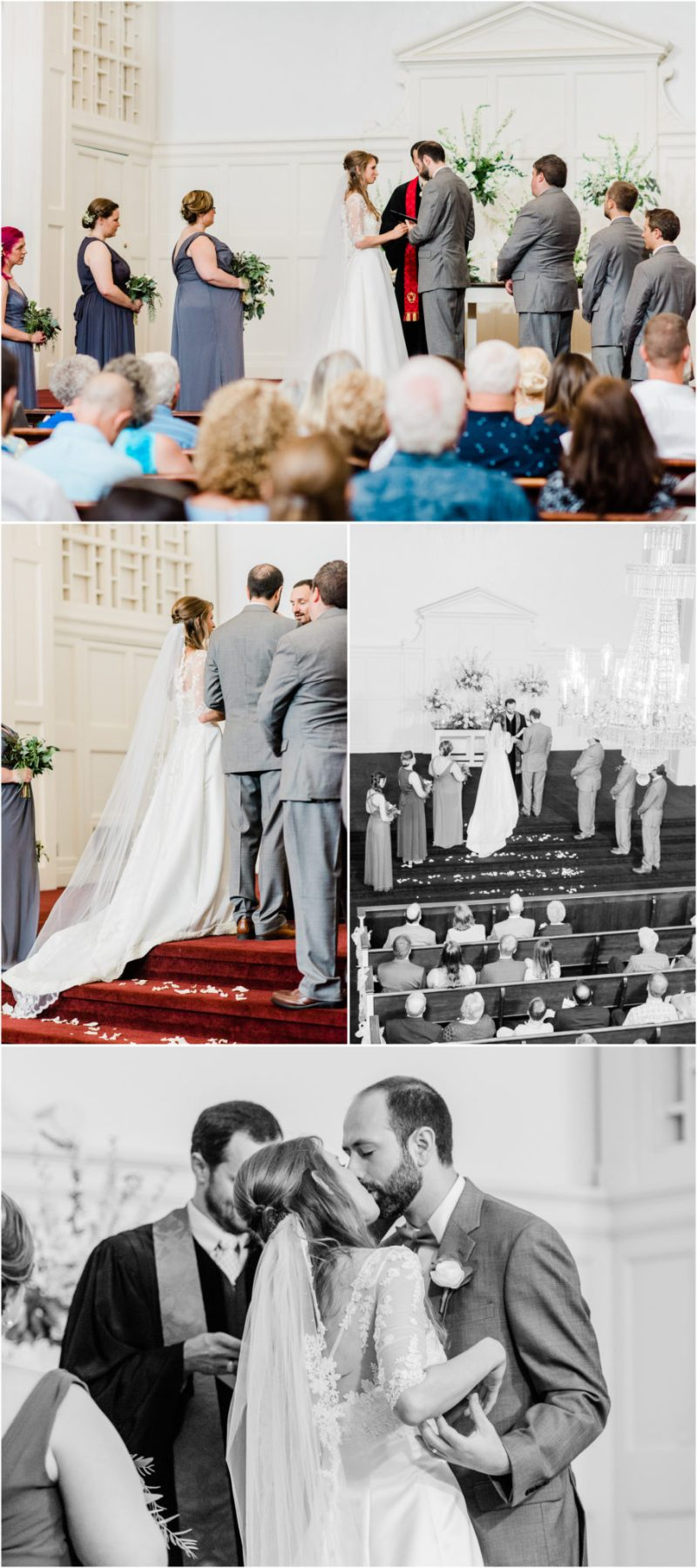 Greenery Inspired Rutledge Chapel Wedding Ceremony Columbia SC