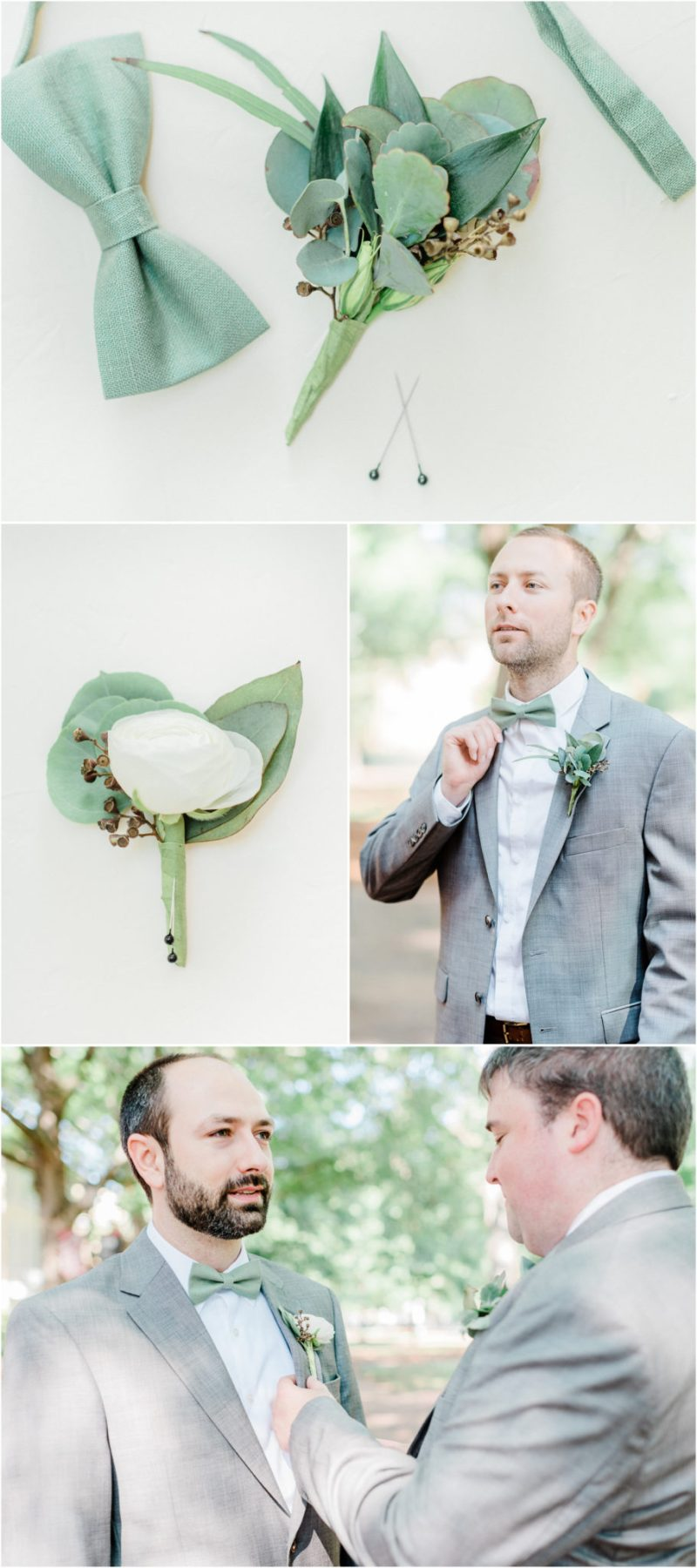 Greenery Inspired River Banks Zoo Wedding Columbia SC Groomsmen Portraits