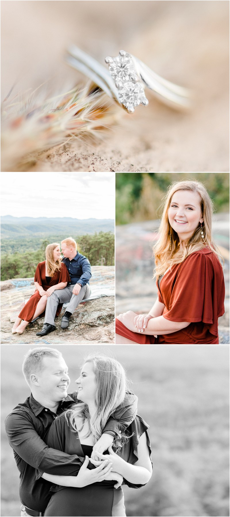 Bald Rock Engagement in Cleveland, SC