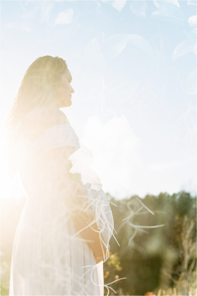 Table Rock Maternity Session Film Double Exposure