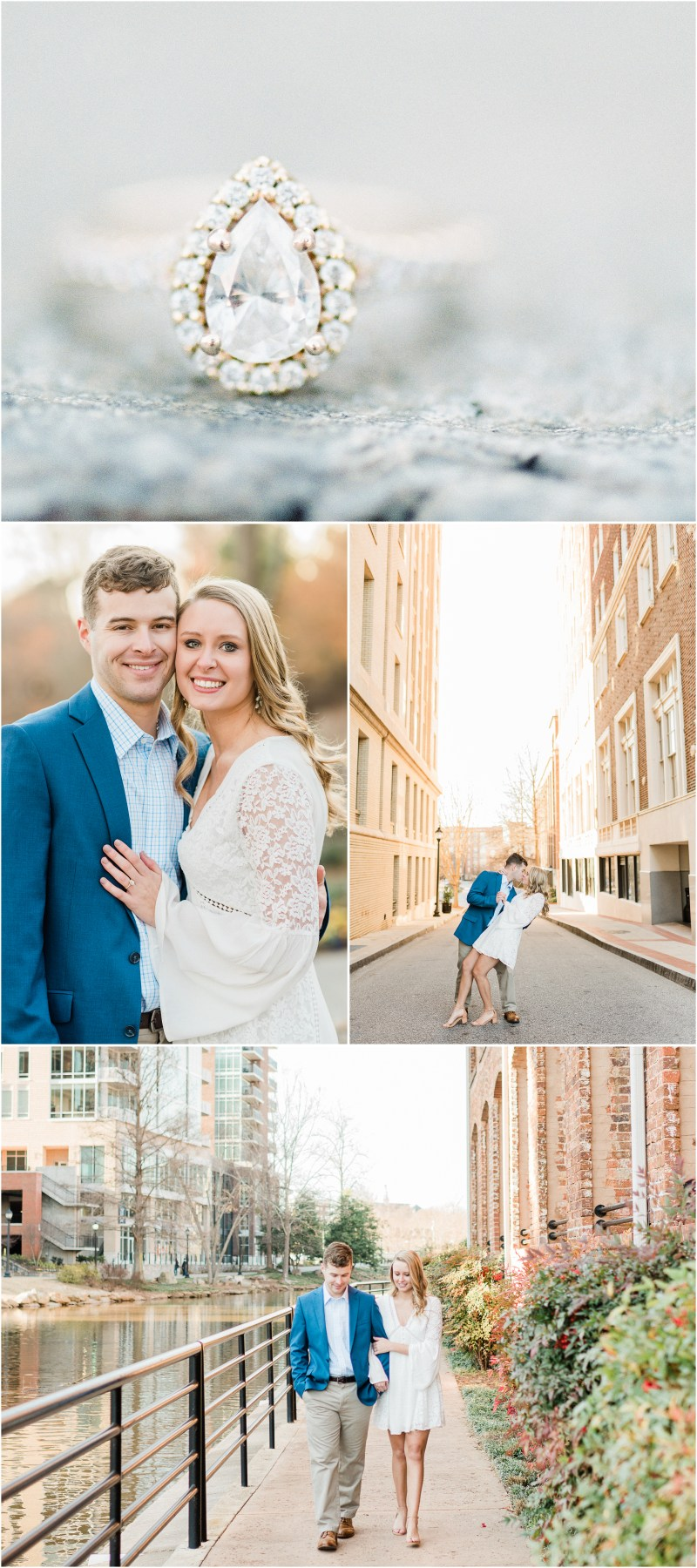Downtown Greenville winter engagement | Greenville SC engagement photography