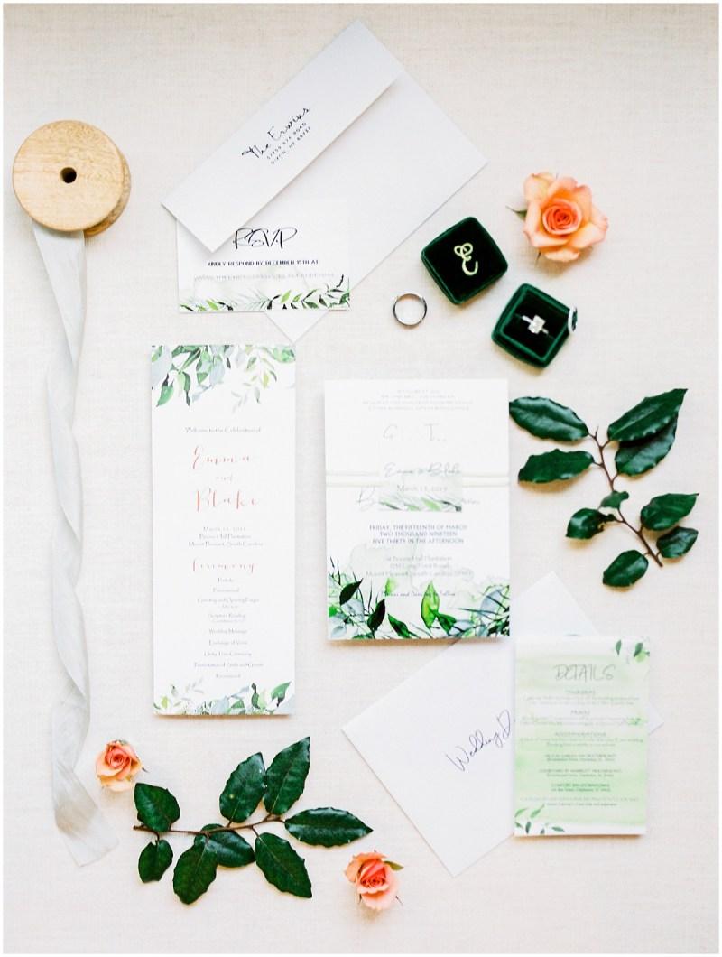Charleston SC Wedding Invitations
