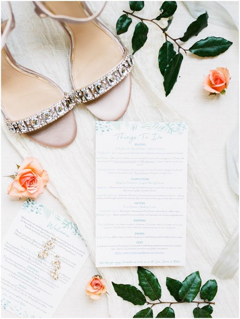 Charleston SC wedding bridal details