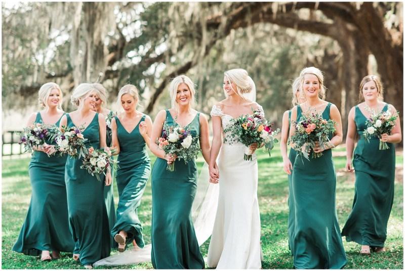 Boone Hall Plantation wedding bridesmaid photos