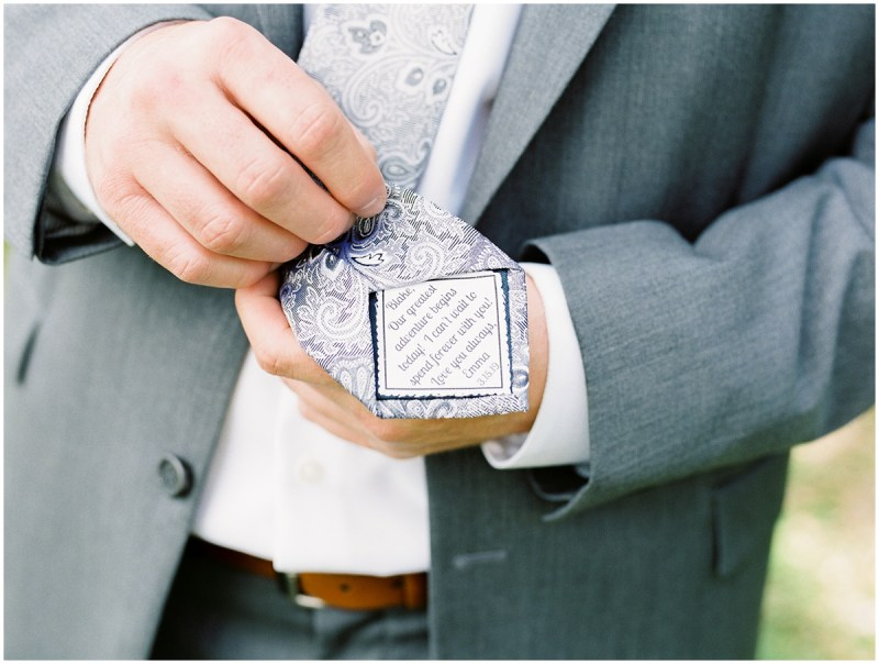 Boone Hall Plantation wedding groom details