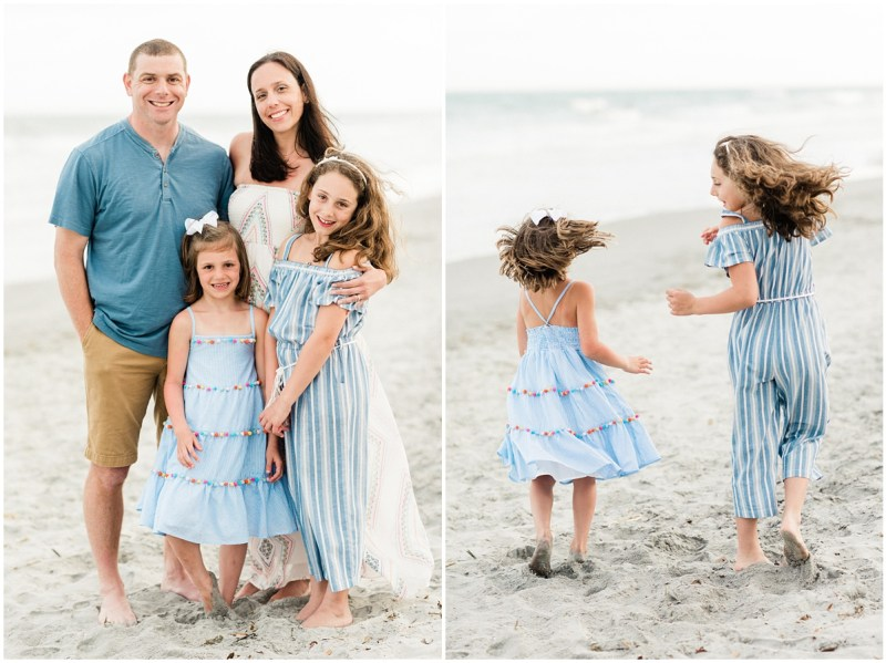 Sunset Surfside Beach Family Session