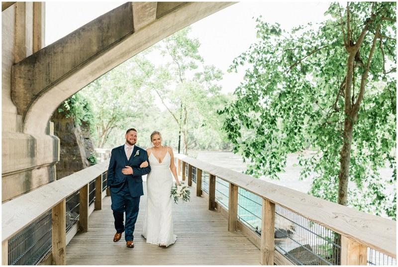 River Walk Columbia Bride and Groom Photos