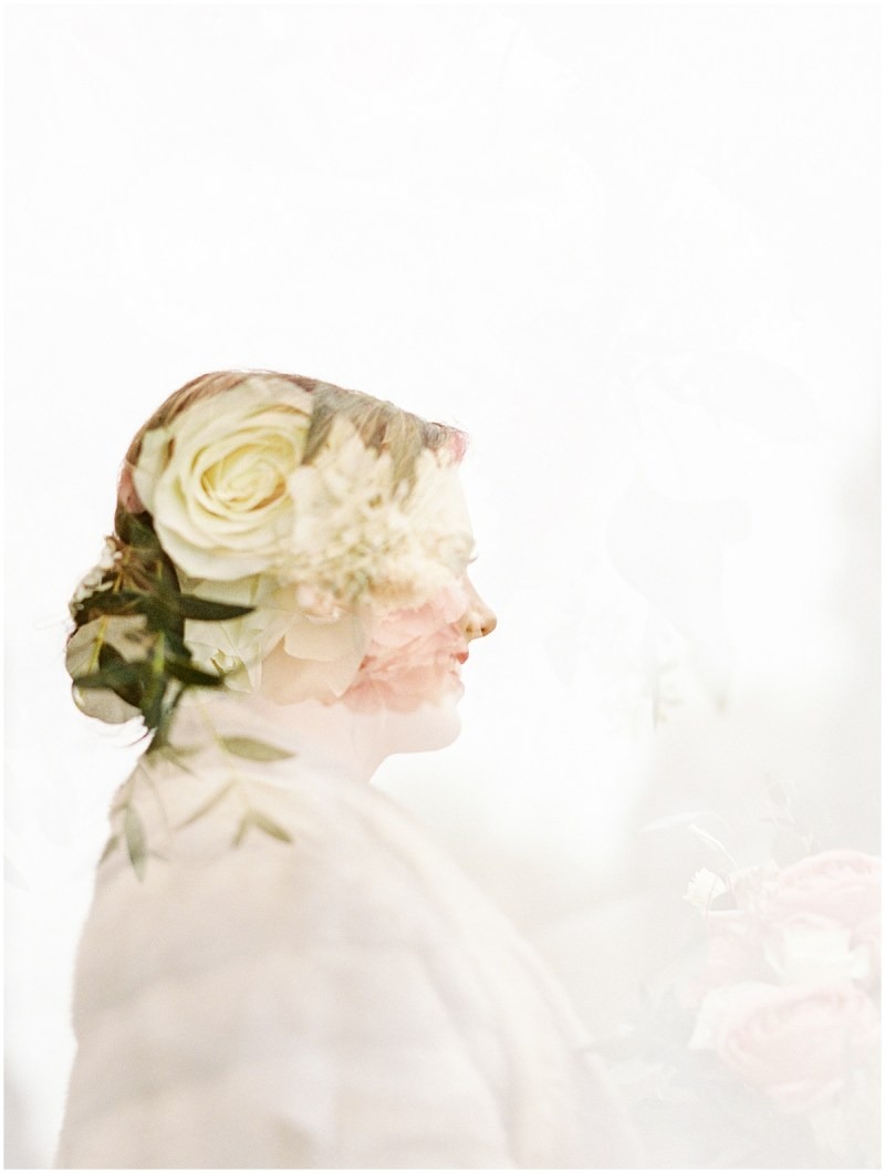 Bridal Session Film Double Exposure